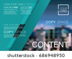 presentation layout design... | Shutterstock .eps vector #686948950
