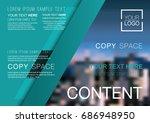 presentation layout design... | Shutterstock .eps vector #686948950