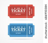 ticket icon blank admit set... | Shutterstock .eps vector #686950384