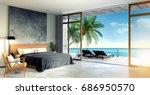 modern loft  interior of... | Shutterstock . vector #686950570