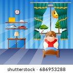 vector illustration of little... | Shutterstock .eps vector #686953288