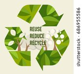 eco friendly. ecology concept... | Shutterstock .eps vector #686955586