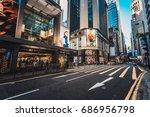 queen's road central  hong kong ... | Shutterstock . vector #686956798