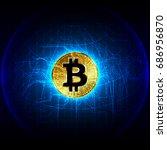 bitcoin digital currency ...   Shutterstock .eps vector #686956870