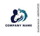 Stock vector horse care 686964520