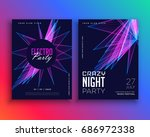 electro party music flyer... | Shutterstock .eps vector #686972338