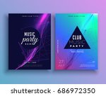 music party invitation poster... | Shutterstock .eps vector #686972350