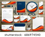 corporate identity business... | Shutterstock .eps vector #686974540