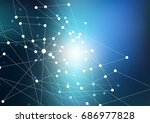 abstract background  connection ... | Shutterstock .eps vector #686977828