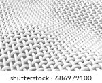 close up look at interlaced... | Shutterstock . vector #686979100