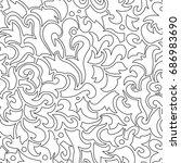 black and white seamless... | Shutterstock .eps vector #686983690