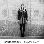 lifestyle  fashion and people...   Shutterstock . vector #686984674