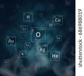 scientific vector background... | Shutterstock .eps vector #686988019