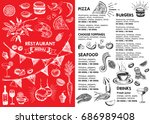 christmas restaurant brochure ...   Shutterstock .eps vector #686989408