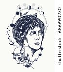 science and education tattoo....   Shutterstock .eps vector #686990230