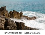 little bay of fiumicello... | Shutterstock . vector #686992108