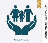 family insurance icon flat...   Shutterstock .eps vector #686992624