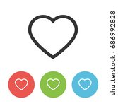 heart outline icon. vector flat ...