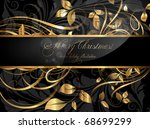 vintage dark golden card with... | Shutterstock .eps vector #68699299