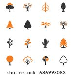 tree vector icons for user... | Shutterstock .eps vector #686993083