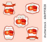 abstract vector illustration... | Shutterstock .eps vector #686995828