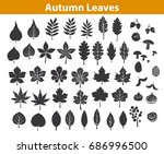 autumn fall leaves silhouettes... | Shutterstock .eps vector #686996500