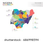 nigeria country map infographic ... | Shutterstock .eps vector #686998594
