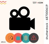 movie camera icon | Shutterstock .eps vector #687000619