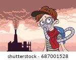 environmental pollution poster. ...   Shutterstock .eps vector #687001528