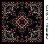 paisley bandana print | Shutterstock .eps vector #687001999