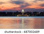 downtown skyline of madison ... | Shutterstock . vector #687002689