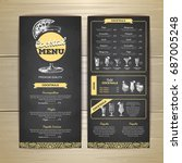 chalk drawing cocktail menu... | Shutterstock .eps vector #687005248