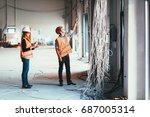 maintenance engineers checking...   Shutterstock . vector #687005314