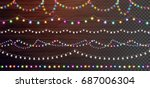 christmas lights set  colored... | Shutterstock .eps vector #687006304