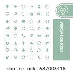 arrow icon set vector | Shutterstock .eps vector #687006418