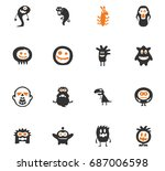 monster vector icons for user... | Shutterstock .eps vector #687006598