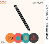 pencil icon   Shutterstock .eps vector #687010474