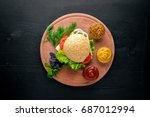 hamburger with cheese  meat and ...