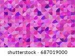 light pink  blue vector... | Shutterstock .eps vector #687019000