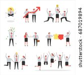 business people various... | Shutterstock .eps vector #687019894