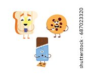 set of funny characters from...   Shutterstock .eps vector #687023320