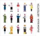 job character vector... | Shutterstock .eps vector #687024724