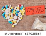 time to stop use narcotics.... | Shutterstock . vector #687025864