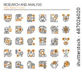 research and analysis   thin... | Shutterstock .eps vector #687026020