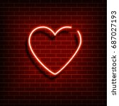 Neon Heart. A Bright Red Sign...