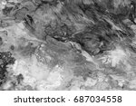 black and white  abstract... | Shutterstock . vector #687034558