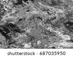 black and white  abstract... | Shutterstock . vector #687035950