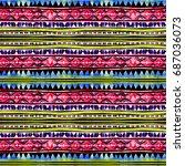 american tribal design.... | Shutterstock . vector #687036073