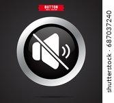 mute volume control icon