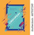 abstract dynamic shape vector...   Shutterstock .eps vector #687037249